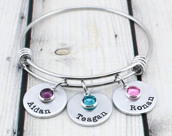 Custom Bracelet for Women - Personalized Gift for Her - Mothers Day Gift for Mom - Custom Hand Stamped Name Bracelet - Gift for Women
