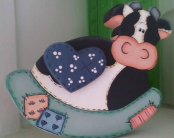 Rocking Cow, shelf sitter