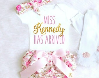 Baby Girl Coming Home Outfit Summer Newborn Baby Girl Clothes Personalized Newborn Girl Clothes Summer Boho Baby Clothes Floral Bloomers k9