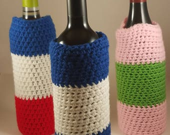 Crochet Wine Bottle Cozy, Crochet Wine Bottle Cover