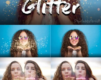 Photoshop Overlay Blowing Glitter Overlays  Sparkler overlays Photo Overlay  Confetti blow magic Weddin glitter Photography backdrop