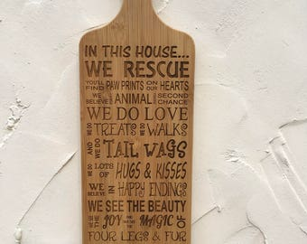 Personalised Engraved Pet Paddle Board Rescue / Non Rescue version