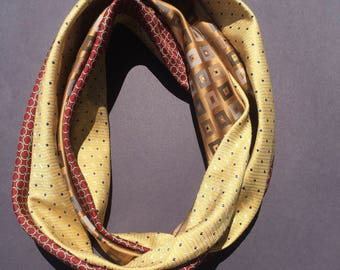 Silk Cowl Infinity Scarf from recycle neck ties