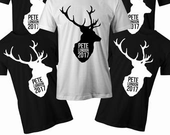 Stag Silhouette T shirt Mens stag do t shirt Mens Bachelor party