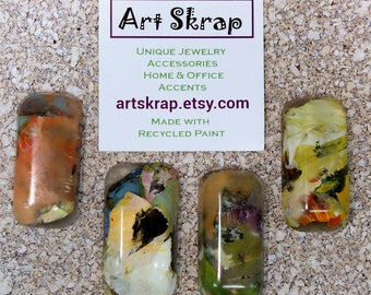 Set of 4, Big Thumtacks, Chunky, Easy to use, Arthritis, Recycled Paint, Office decor, Home decor, Organization, Artskrap, Bulletin Board,