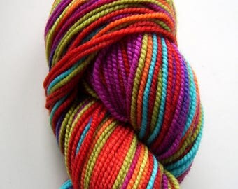Shibui Knits Sock - Spectrum, 51301  - Rainbow Red Orange Purple Aqua Blue Lime Green Fingering Merino Sock Yarn