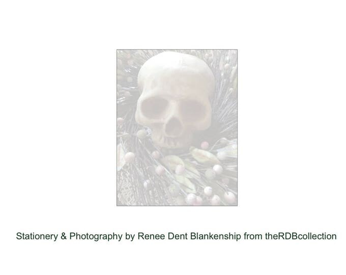 Skull in Wreath Note Pad