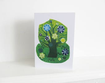 Tree in Summer Greeting Card