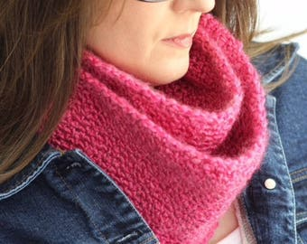 NEW ARRIVAL-Women's 50 Inch Vertical Stripe Infinity Scarf/Cowl Neck Scarf/Winter Fashion Accessory/Spring--Rosebud/Pink--Gift Ideas for Her