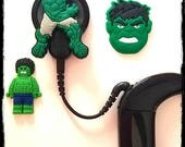Hearing Aid Tube Trinkets or Cochlear Cuties: Hulk Inspired Cartoon Characters!  Please select quantity 2 for a pair!
