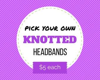 PICK ANY Knotted Headband     Baby Headband, Toddler Headband, Infant Top Knot Headband, Jersey Headband, Baby Jersey Headband, Photo Prop