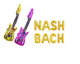 Nash Bach Balloons Nash Bash Balloon Letters Nashville Bachelorette Party Decor Letter Balloons Banner Kit Bachelorette Party Decorations