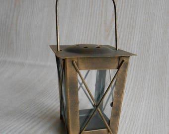 ON SALE Vintage Mini Lantern,Vintage Candle Holder ,Moroccan Mini Lantern ,Rustic Lantern,Home Decor,Vintage Lantern