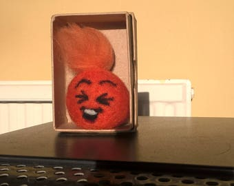 I've captured a giggle in a box, something to make you smile! Needle felted giggle ball