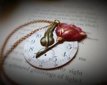 MIGHTY ROSE - Steampunk Necklace