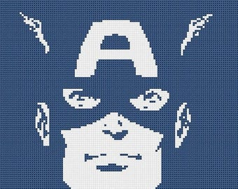 Captain America Cross Stitch Pattern Pdf marvel cross stitch marvel pattern - 121 x 111 stitches - INSTANT Download - B905