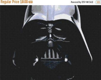 Darth vader Cross Stitch Pattern Pdf Darth vader pattern star wars pattern - 220 x 165 stitches - INSTANT Download - B075
