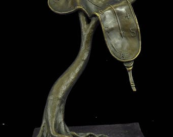 Abstract Modern Art Melting Clock by Salvador Dali