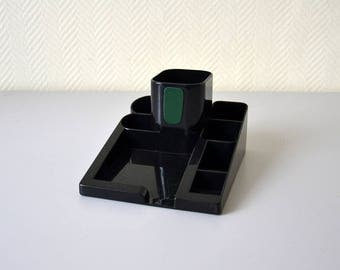 Vintage Desk Organizer / desk accessories / pencil holder / 80s