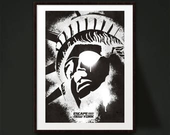 Escape From New York Movie Poster Print
