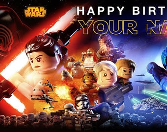 Birthday banner Personalized 4ft x 2 ft Star Wars