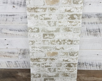York Wallcovering Up the Wall Urban Chic Brick Stone Tan Gray White 3D Wallpaper RB4304 - Sold by the yard
