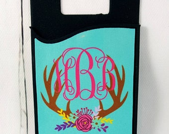Monogram Cell Phone Caddy, ID Holder, Personalized Gift, Credit Card Holder, Gift Idea