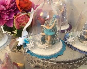 Figure Skater Ornament/ Favor Aqua