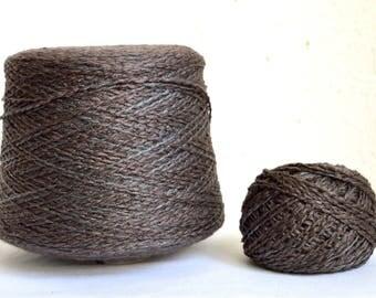 Italian chunky wool - silver viscose yarns, 50g / 1,76 oz balls