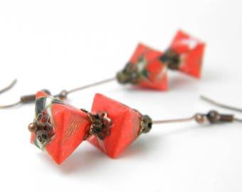 Origami earring Sankaku