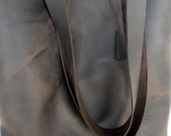 Dark Brown Leather Tote Bag -Brown Leather Bag -  Dark Brown Bag,Brown Leather Tote
