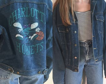 Charlotte Hornets Jean Jacket