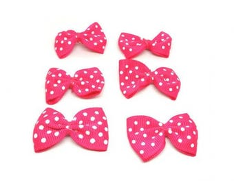 25 mini dark pink bows