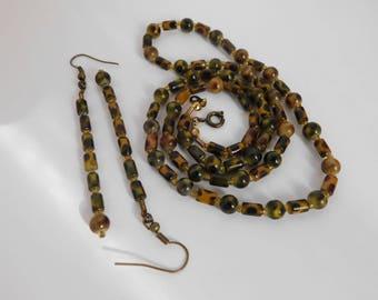 Animal Earrings Necklace