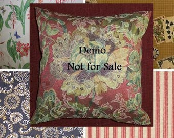 Pillow Cover CHOOSE Tres Chic Central Park Ticking Little Rock