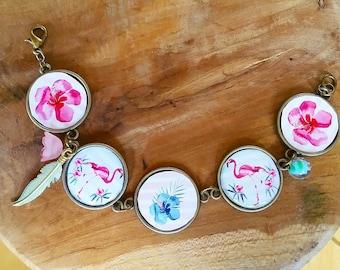 Bracelet: Pretty pink Flamingo