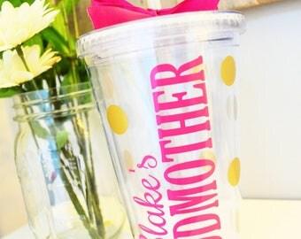 Godmother Tumbler // Gift for Godmother // Godmother Gift // Christening Gift Ideas // Godmother Tumbler // Best Godmother Gift // Madrina