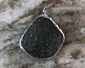 Beach rock pendant with a sparkle! Beach rock locket, sparkly pebble charm, one of a kind pendant, sparkle pendant, custom jewelry