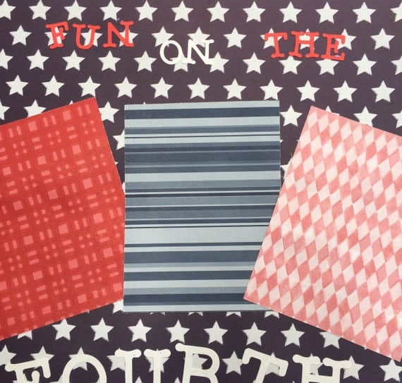 Scrapbooking: Fun on the Fourth, 12x12 Premade Scrapbook Page