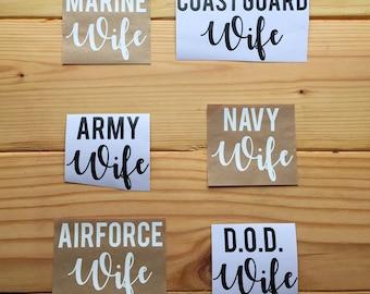 Military Wife Decal, MILSPO Car Decal, Laptop Decal