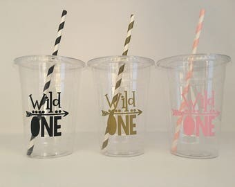 Wild one Party cups, Wild One Birthday party cups, Wild One 1st Birthday Party, Wild Party