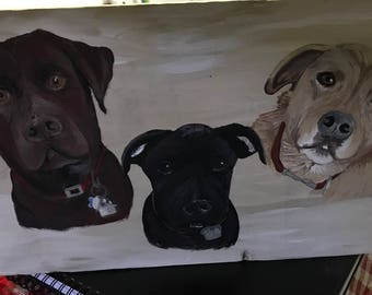EXAMPLE  OF Custom painting of dogs. (Example)