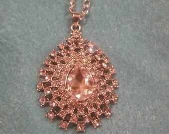 Bling teardrop necklace