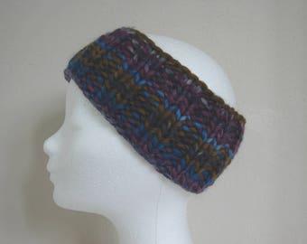 knit ear warmer blue gray purple blue kids chunky head warmer boy comfortable knit thick yarn chunky multicolor hand knit headband girl