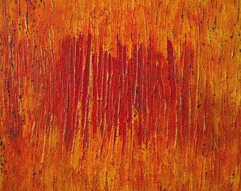 Large Abstract Acrylic Painting Orange Painting Red Painting Yellow Painting Modern Art