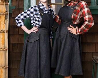 The Paige Denim Jumper Overall Dress