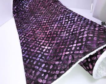 Purple Batik Dish Mat, Dish Drying Mat, Camper Dishes Drain Mat, Kitchen Dish Mat, Dish Towel Drying Mat