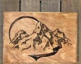 Wood burning art Etsy