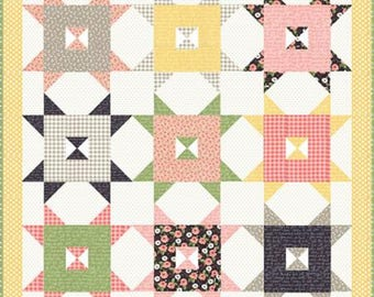 "Barn Style Quilt Pattern Farmers Daughter by By Vanessa Goertzen of Lella Boutique for Moda- Finished Quilt Size 68"" x 68"""
