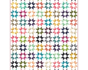 """All Star Quilt by V and Co. for Moda- Finished Size 80"""" x 96"""""""